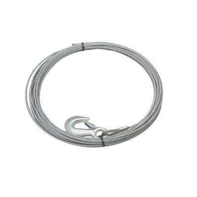40 ft. x 7/32 in. Galvanized Steel Wire Rope with Hook