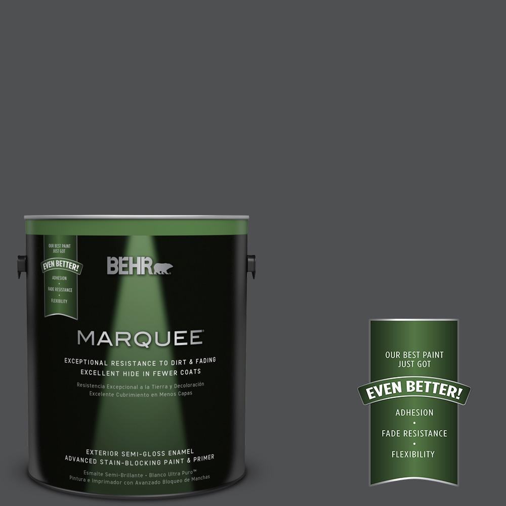 BEHR MARQUEE 1-gal. #PPU18-1 Cracked Pepper Semi-Gloss Enamel Exterior Paint