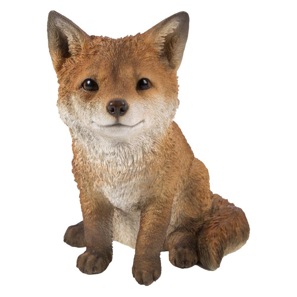 Fox Pup Sitting Statue