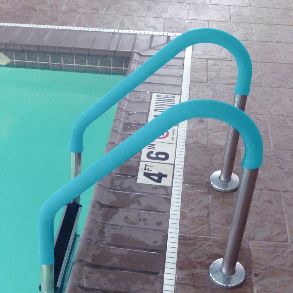 Blue Wave 10 ft. Rail Cover in Teal for Pool Handrails