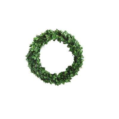 Round 9.75 in. Boxwood Wreath