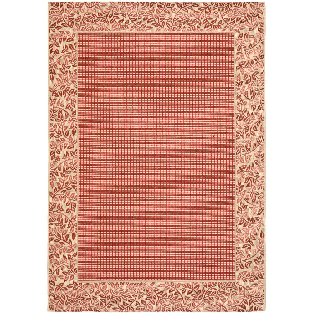 safavieh courtyard red natural 4 ft x 5 ft 7 in indoor outdoor area rug cy0727 3707 4 the. Black Bedroom Furniture Sets. Home Design Ideas