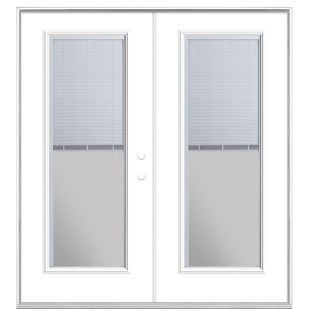 Masonite Steel Mini Blind Patio Door Without Brickmold Pure