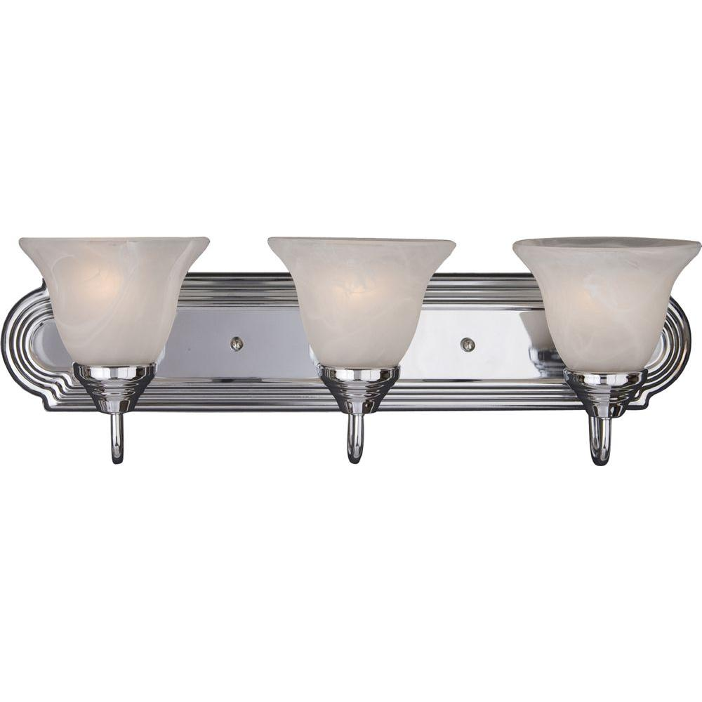 Essentials 3 Light Polished Chrome Bath Vanity