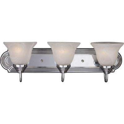 Essentials 3-Light Polished Chrome Bath Vanity