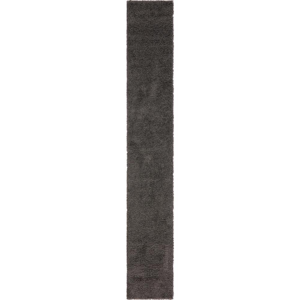 Solid Shag Graphite Gray 16 ft. Runner Rug