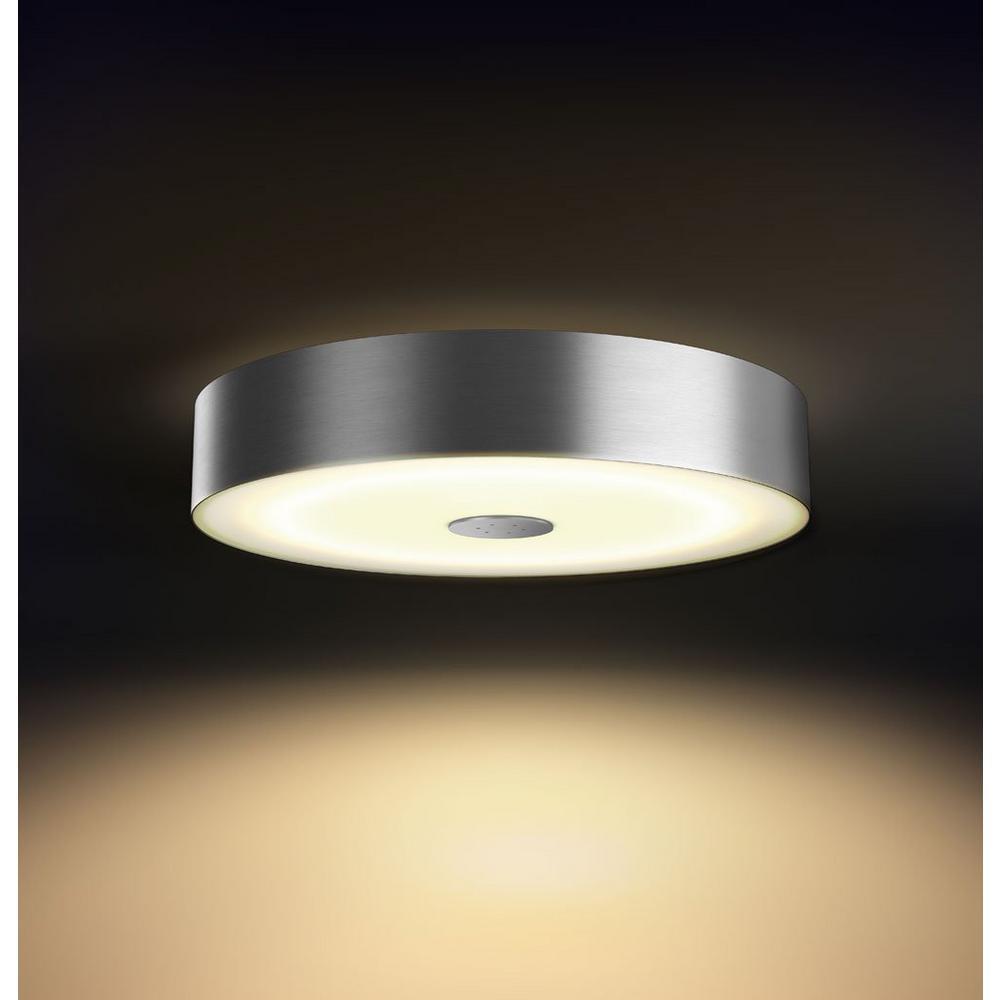 White Ambiance Fair LED Dimmable Smart Flush Mount Light