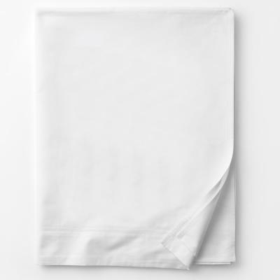 Legends White Solid 800 Thread Count Egyptian Cotton Sateen King Flat Sheet
