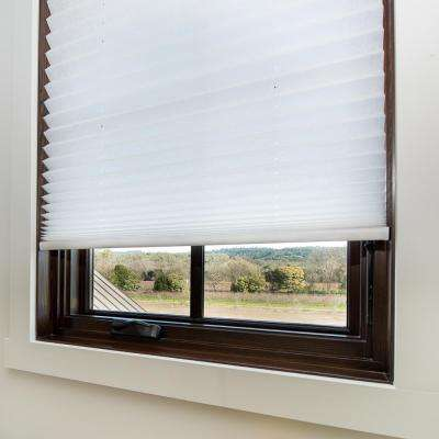 Easy Lift Trim-at-Home Cordless Spun Lace Fabric Light Filtering Pleated Shade, 64 in Length (Price Varies by Size)