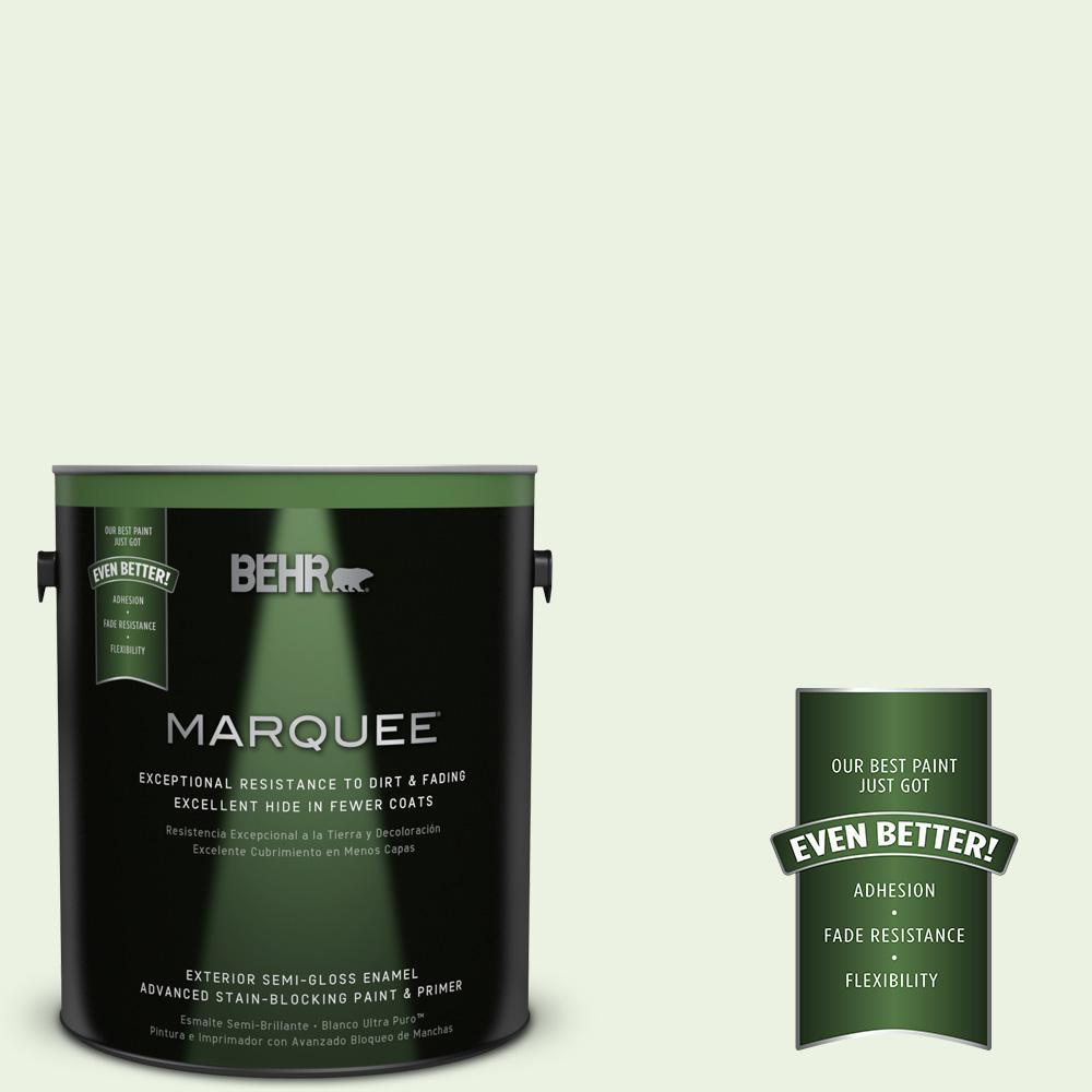 BEHR MARQUEE 1-gal. #P380-1 Magic Mint Semi-Gloss Enamel Exterior Paint