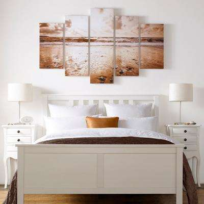 """40 in. x 60 in. """"Sunrise Beach"""" by Graham and Brown Printed Canvas Wall Art (set of 5)"""