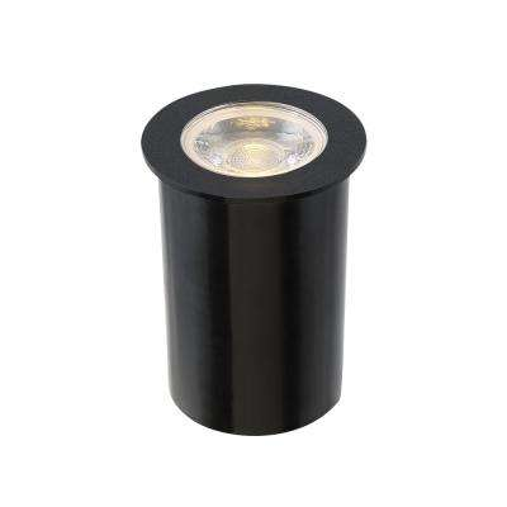 4.5-Watt Black Outdoor Integrated LED Landscape Well Light