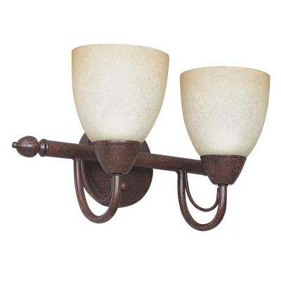 Fiscus 2-Light Oil Rubbed Bronze Bath Vanity Light