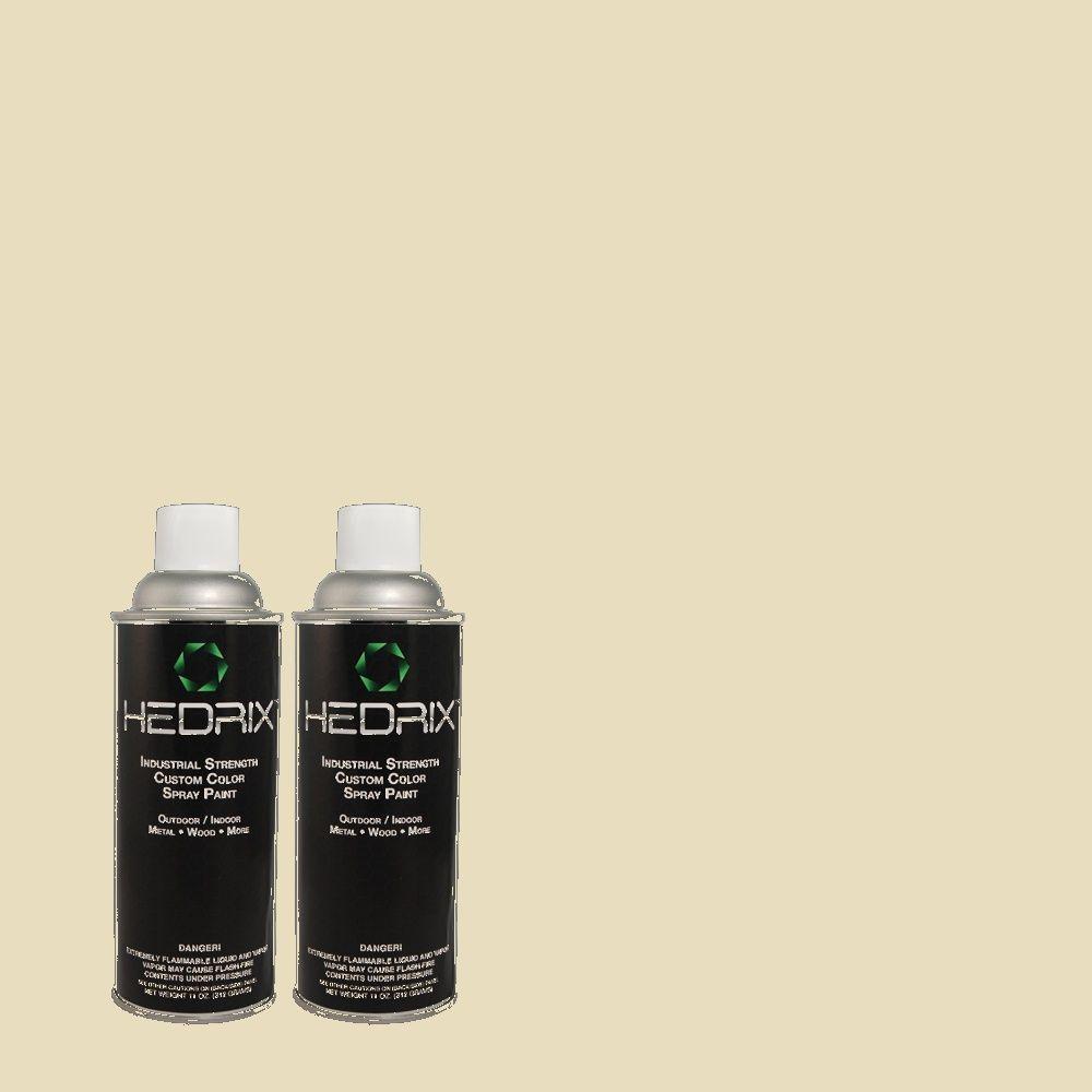 Hedrix 11 oz. Match of 770C-2 Belvedere Cream Flat Custom Spray Paint (2-Pack)