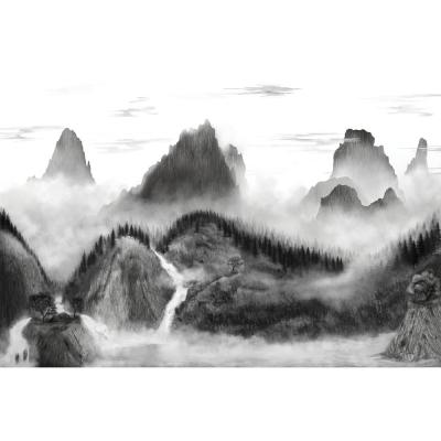 15 ft. x 10 ft. Majestic Mountains Peel and Stick Mural