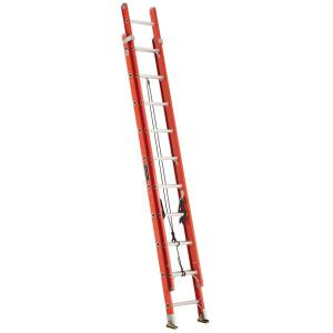 Louisville Ladder 20 ft. Fiberglass Extension Ladder with 300 lbs. Load Capacity Type 1A... by Louisville Ladder