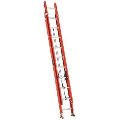20 ft. Fiberglass Extension Ladder with 300 lbs. Load Capacity Type 1A Duty Rating