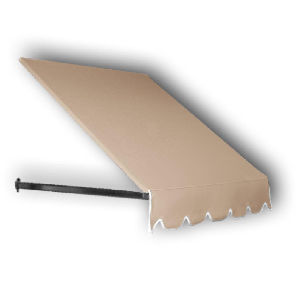 AWNTECH 4 ft. Dallas Retro Window/Entry Awning (56 in. H x 48 in. D) in Tan