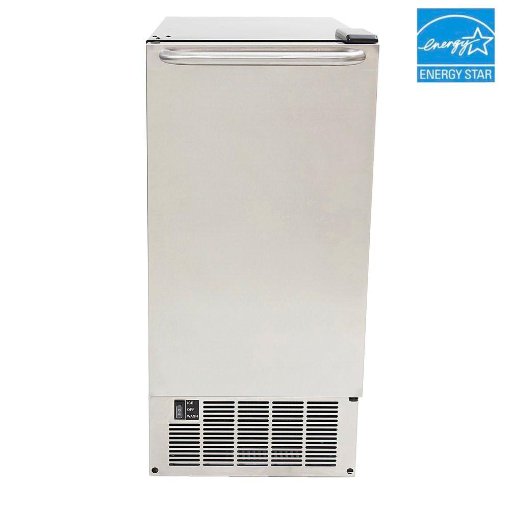 Whynter 15 in. 50 lb. Built-In Icemaker in Stainless Steel