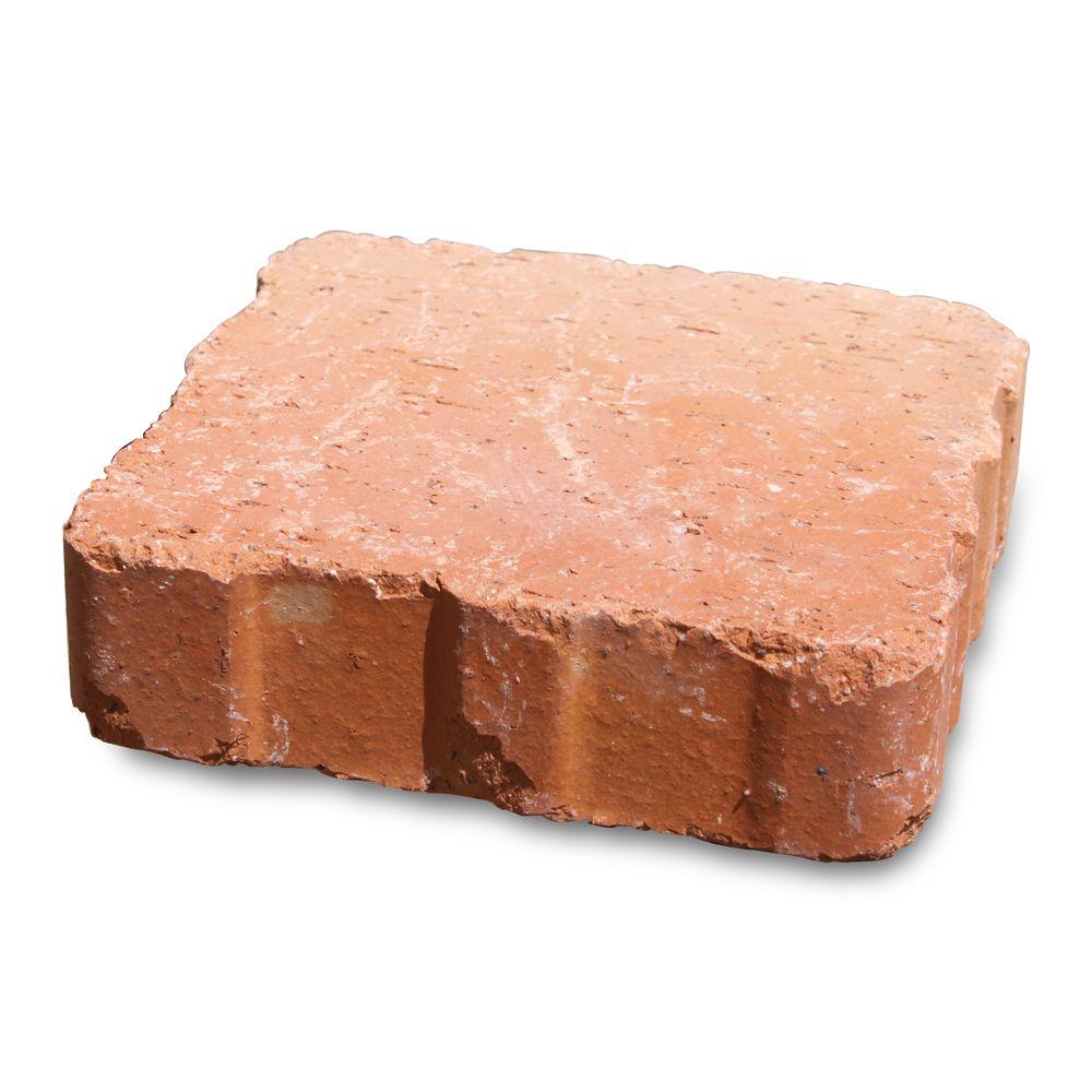 null Relic 6 in. x 1.63 in. x 6 in. Clay Saltillo Paver