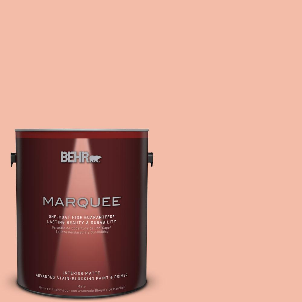 1 gal. #HDC-CT-14A Sunkissed Apricot Flat Interior Paint