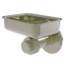 Allied Brass Mercury Collection Wall Mounted Soap Dish with Groovy Accents in Polished Nickel by Allied Brass