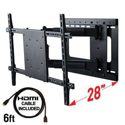 Full Motion TV Wall Mount with Included HDMI Cable, Fits 37 in. - 70 in. TV and VESA Compatible 600 mm x 400 mm