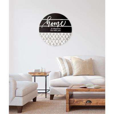 """24 in. W x 24 in. H """"Home"""" by JLB Printed Wall Art"""