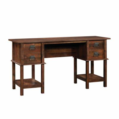 59 in. Rectangular Curado Cherry 4 Drawer Writing Desk with Built-In Storage