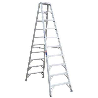 10 ft. Aluminum Twin Step Ladder with 300 lb. Load Capacity Type IA Duty Rating