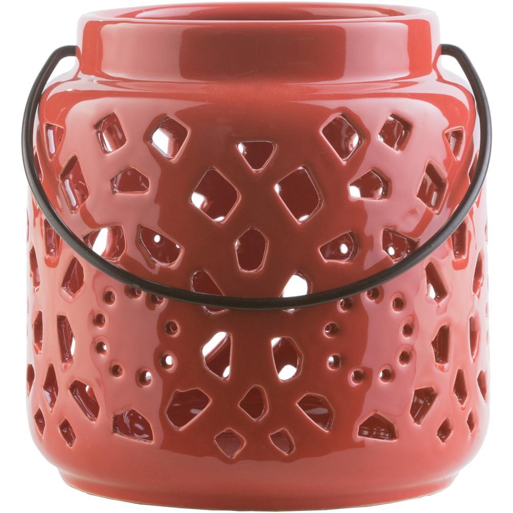 Kimba 6.5 in. Terracotta Ceramic Lantern