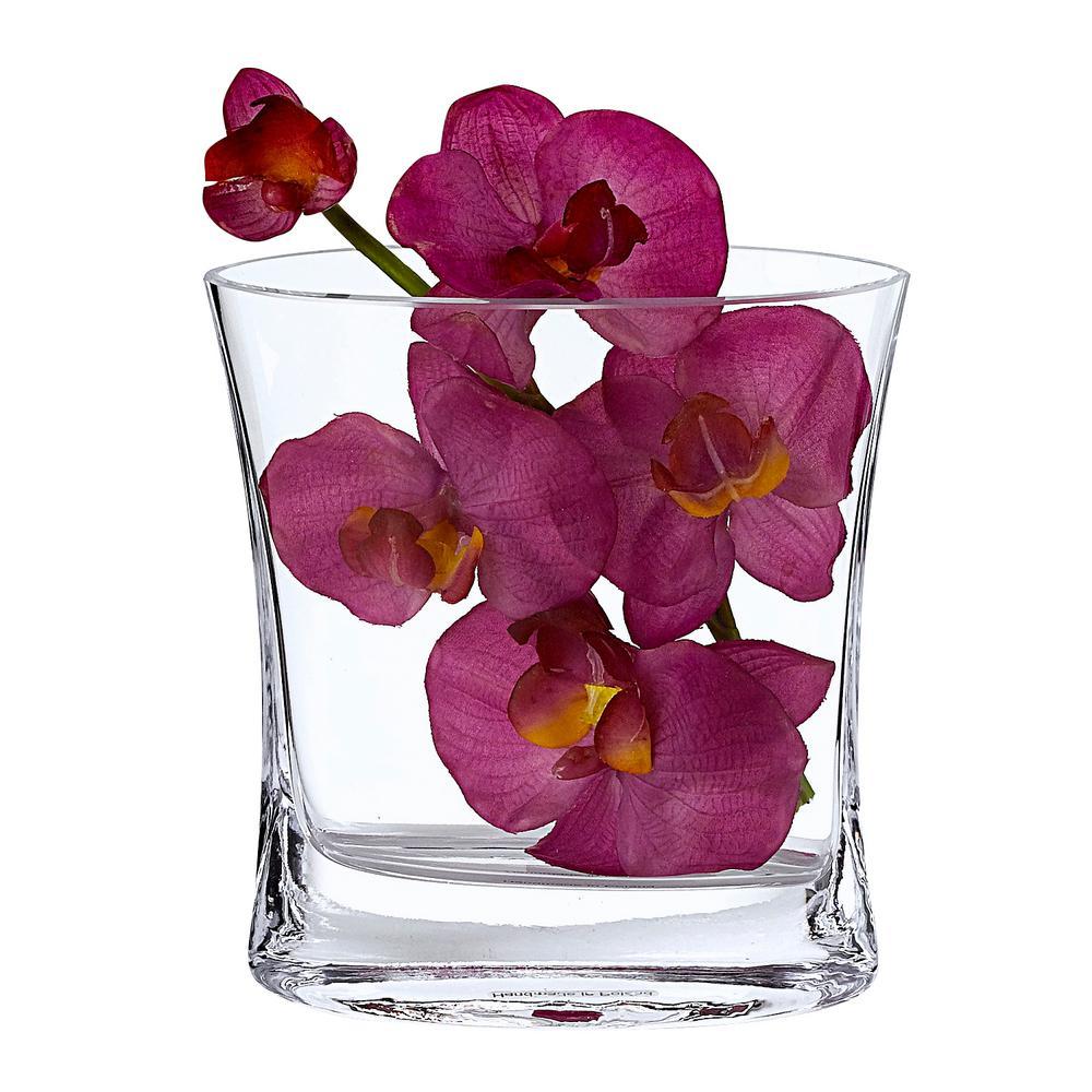 Riviera 6.5 in. European Mouth Blown Medium Pocket Vase