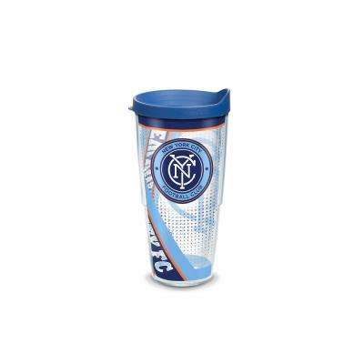 MLS New York City Football Club Striker 24 oz. Double Walled Insulated Tumbler with Travel Lid