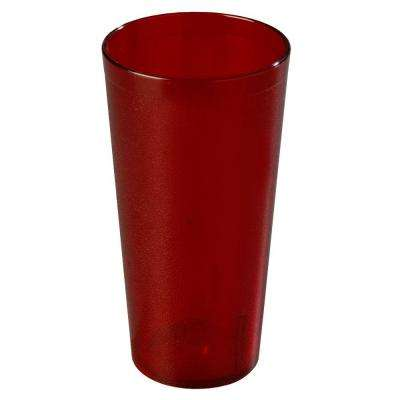 4 in. Diameter, 7.68 in. H, 32 oz. SAN Plastic Tumbler in Ruby (Case of 24)
