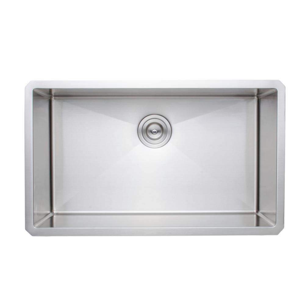 Wells New Chef's Collection Handcrafted Undermount Stainless Steel 30 in. Single Bowl Kitchen Sink