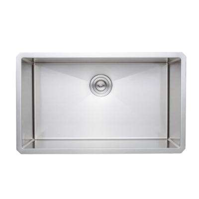 New Chef's Collection Handcrafted Undermount Stainless Steel 30 in. Single Bowl Kitchen Sink