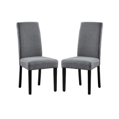 Savona Grey Upholstery Contemporary Dining Accent Chair Set of 2
