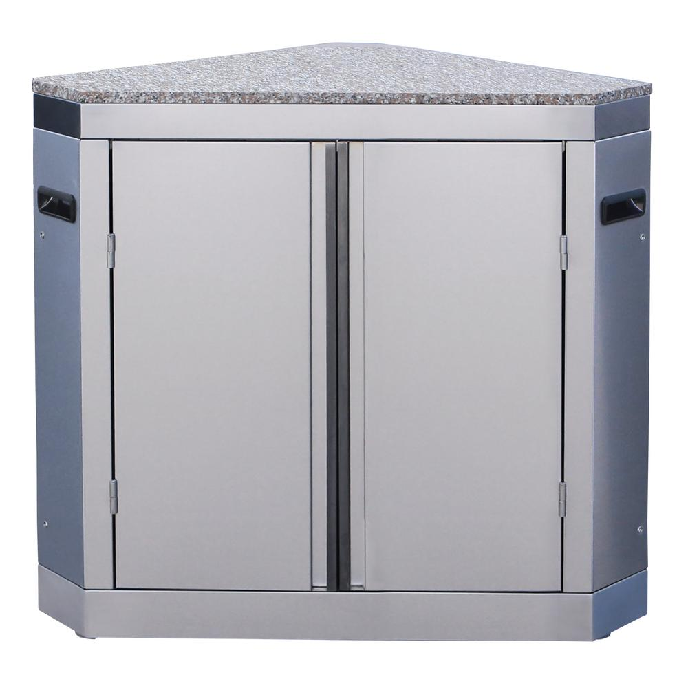 Cal Flame Modular Outdoor Kitchen Corner Pantry Cabinet