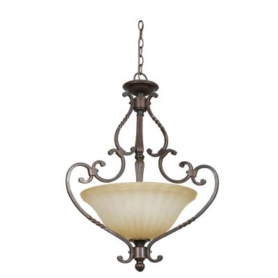 Daniella 30 in. 3-Light Oil Rubbed Bronze Pendant