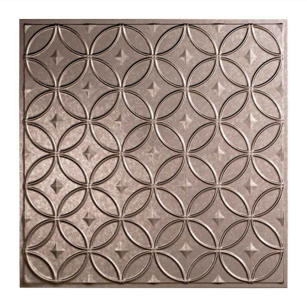 Rings 2 ft. x 2 ft. Lay-in Ceiling Tile in Galvanized