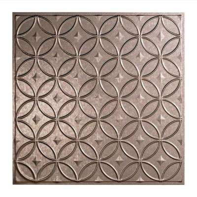 Rings 2 ft. x 2 ft. Lay-in Ceiling Tile in Galvanized Steel