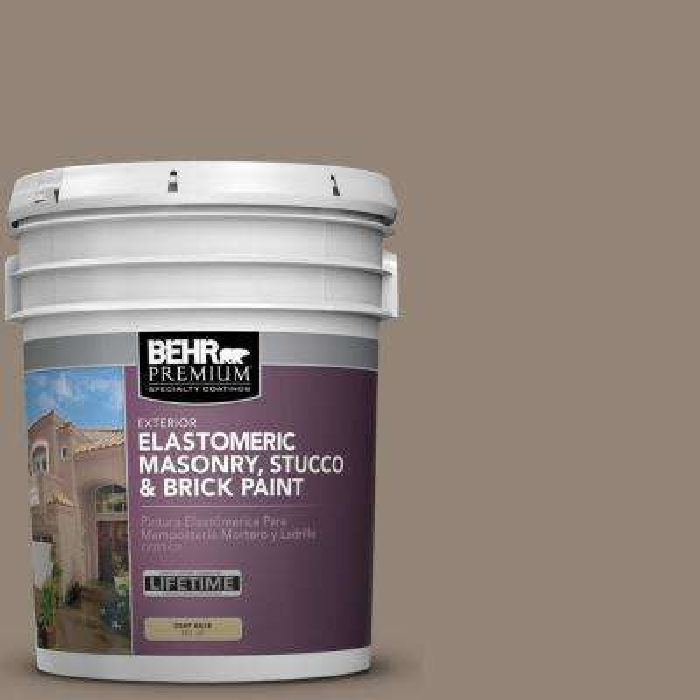 5 gal. #N220-5 Ottertail Elastomeric Masonry, Stucco and Brick Exterior Paint