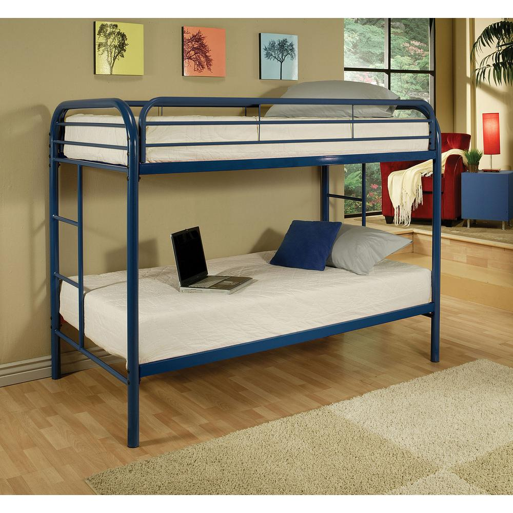 Acme Furniture Thomas Twin Over Twin Metal Bunk Bed 02188bu The