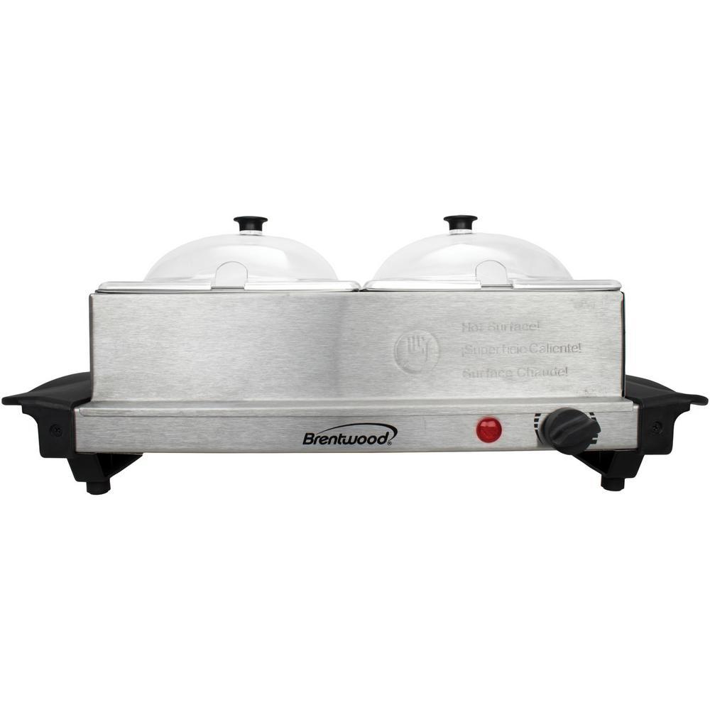 3 Qt. Metallic 2-Pan Buffet Server with Warming Tray