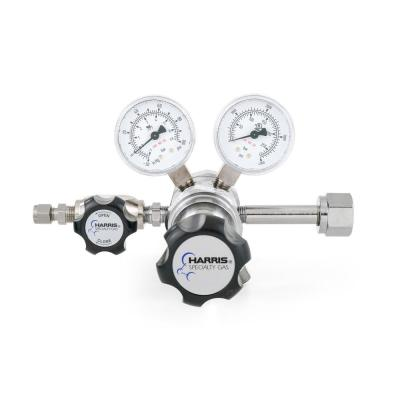 0 PSI to 50 PSI 2-Stage CGA 320 Chrome-Plated, 1/4 in. Compression Fitting, Carbon Dioxide Specialty Gas Lab Regulator