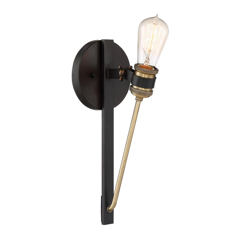 Troy Lighting Brooklyn 1 Light Brooklyn Bronze Wall Sconce