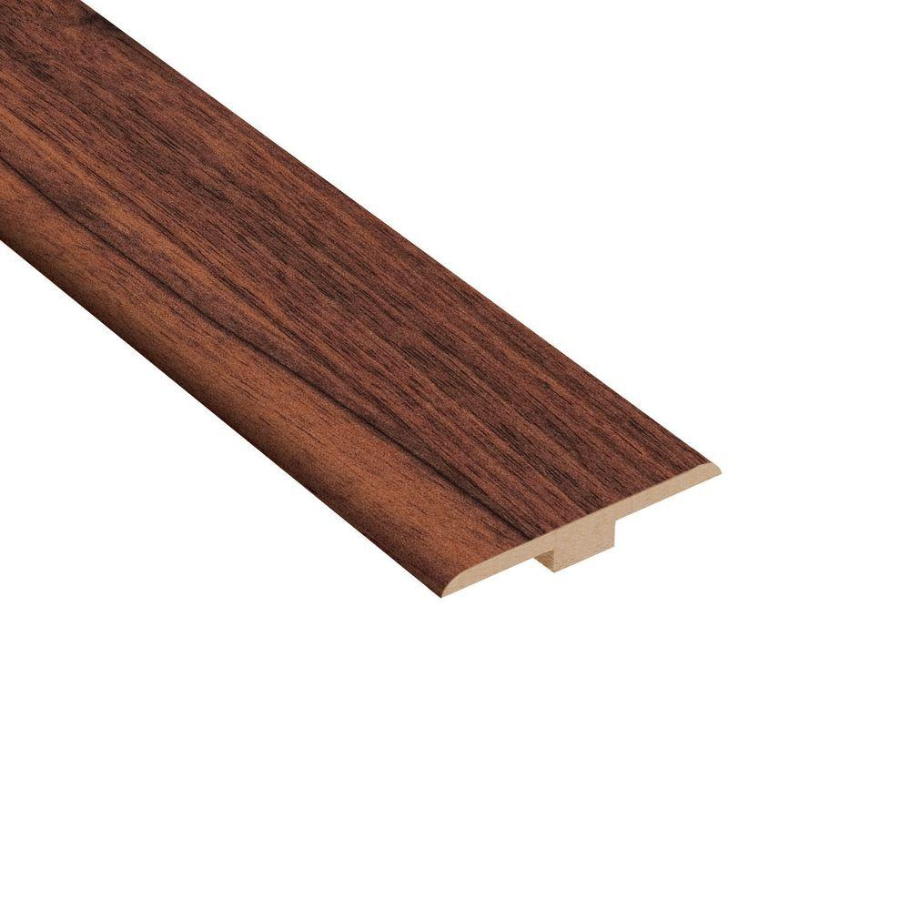 Home Legend High Gloss Makena Koa 1/4 in. Thick x 1-7/16 in. Wide x 94 in. Length Laminate T-Molding