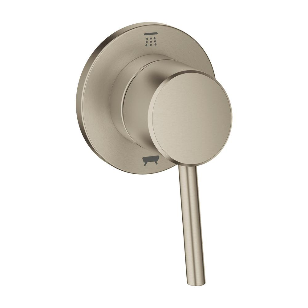 GROHE Concetto 1-Handle Diverter Valve Only Trim Kit in Brushed ...