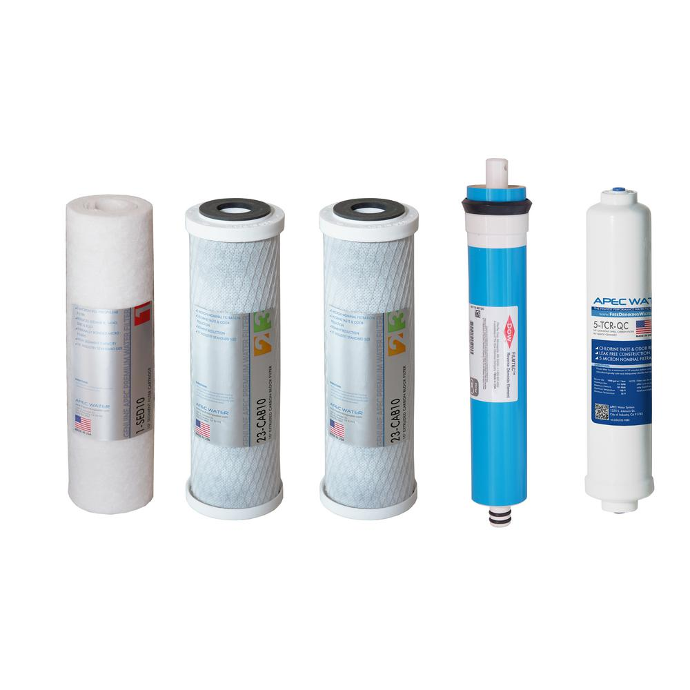 Apec Water Systems Ultimate Reverse Osmosis System 50 Gpd Stage 1 5 Replacement Water Filter Cartridge Filter Max45 The Home Depot