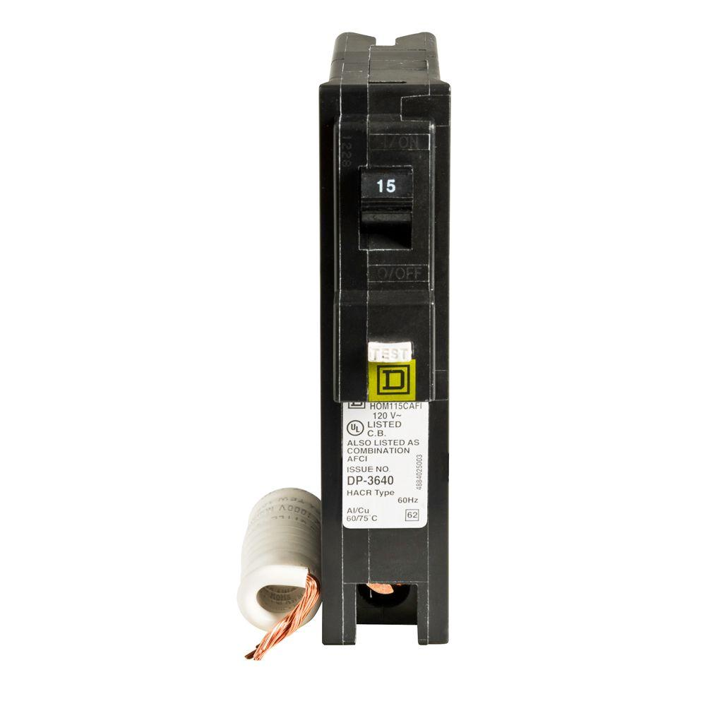 Square D Homeline 15 Amp Single-Pole Combination Arc Fault Circuit Breaker